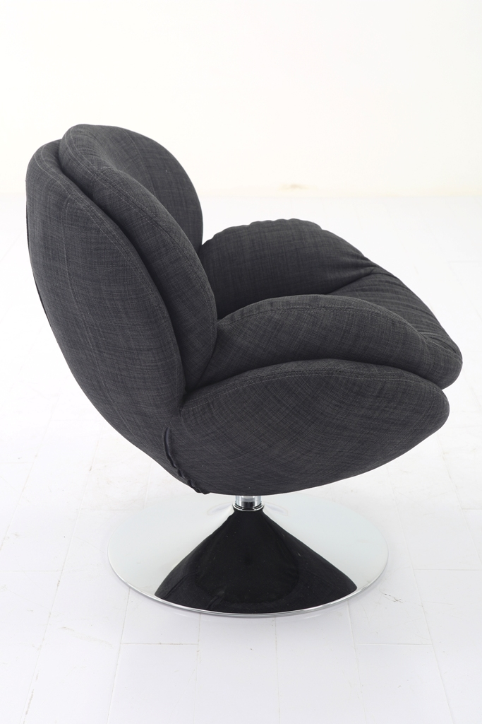 Scoop Leisure Accent Chair In Anthracite Fabric Mac