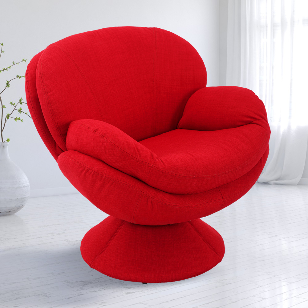Groovy Pub Leisure Accent Chair In Red Fabric Mac Motion Chairs Lamtechconsult Wood Chair Design Ideas Lamtechconsultcom